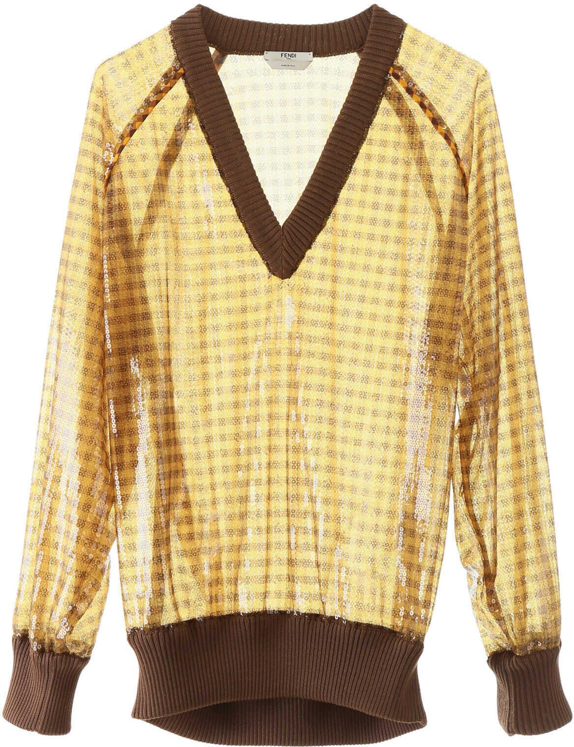 Fendi Sequined Vichy Sweater MEDLAR