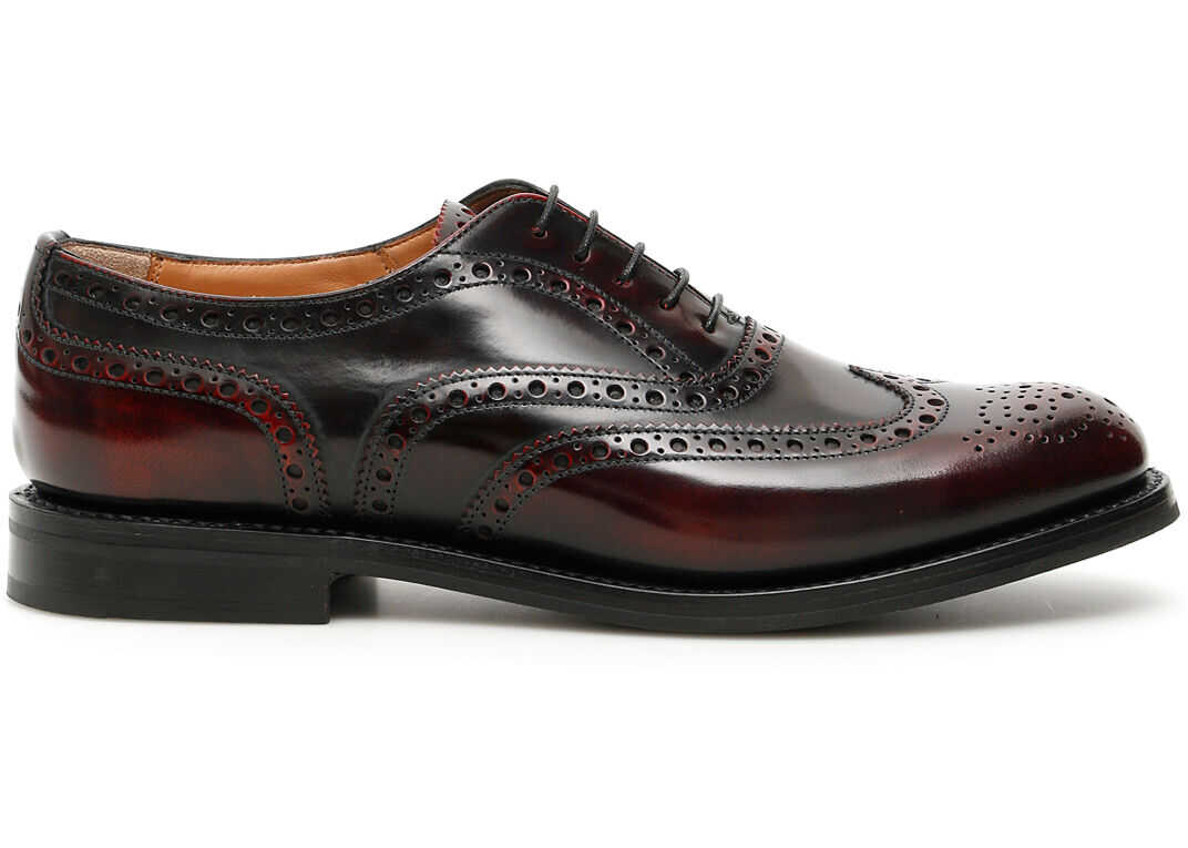 Church`s Burwood Lace-Ups LIGHT BURGUNDY