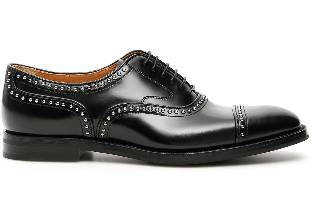 Church`s Studded Anna Lace-Ups BLACK