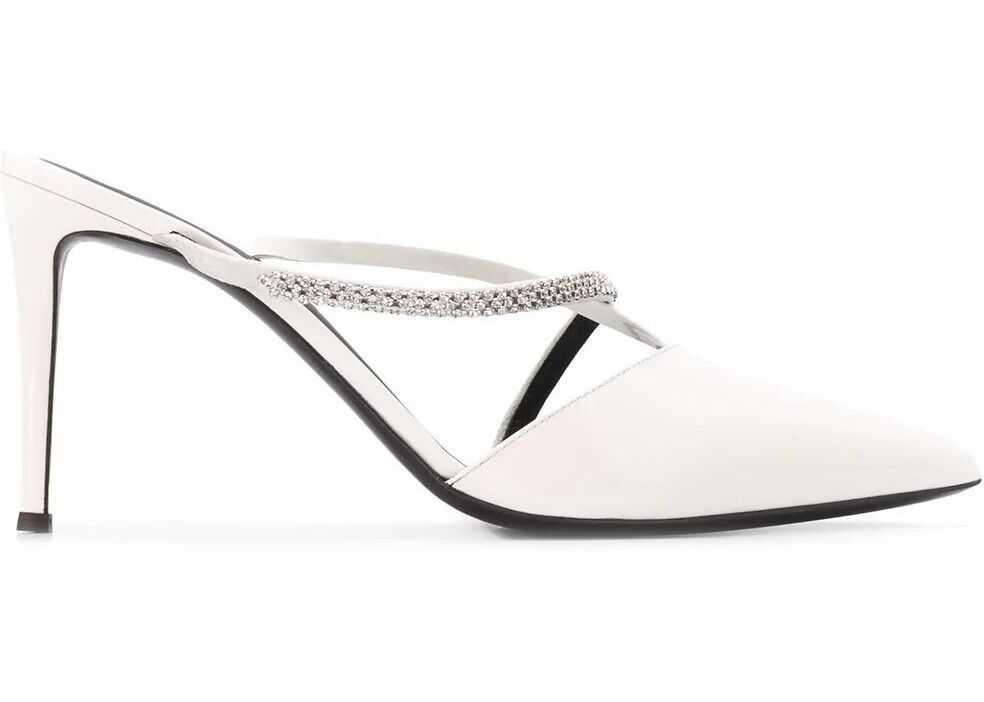 Giuseppe Zanotti Leather Heels WHITE