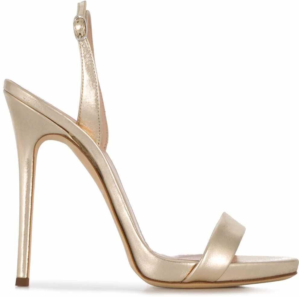 Giuseppe Zanotti Leather Sandals GOLD
