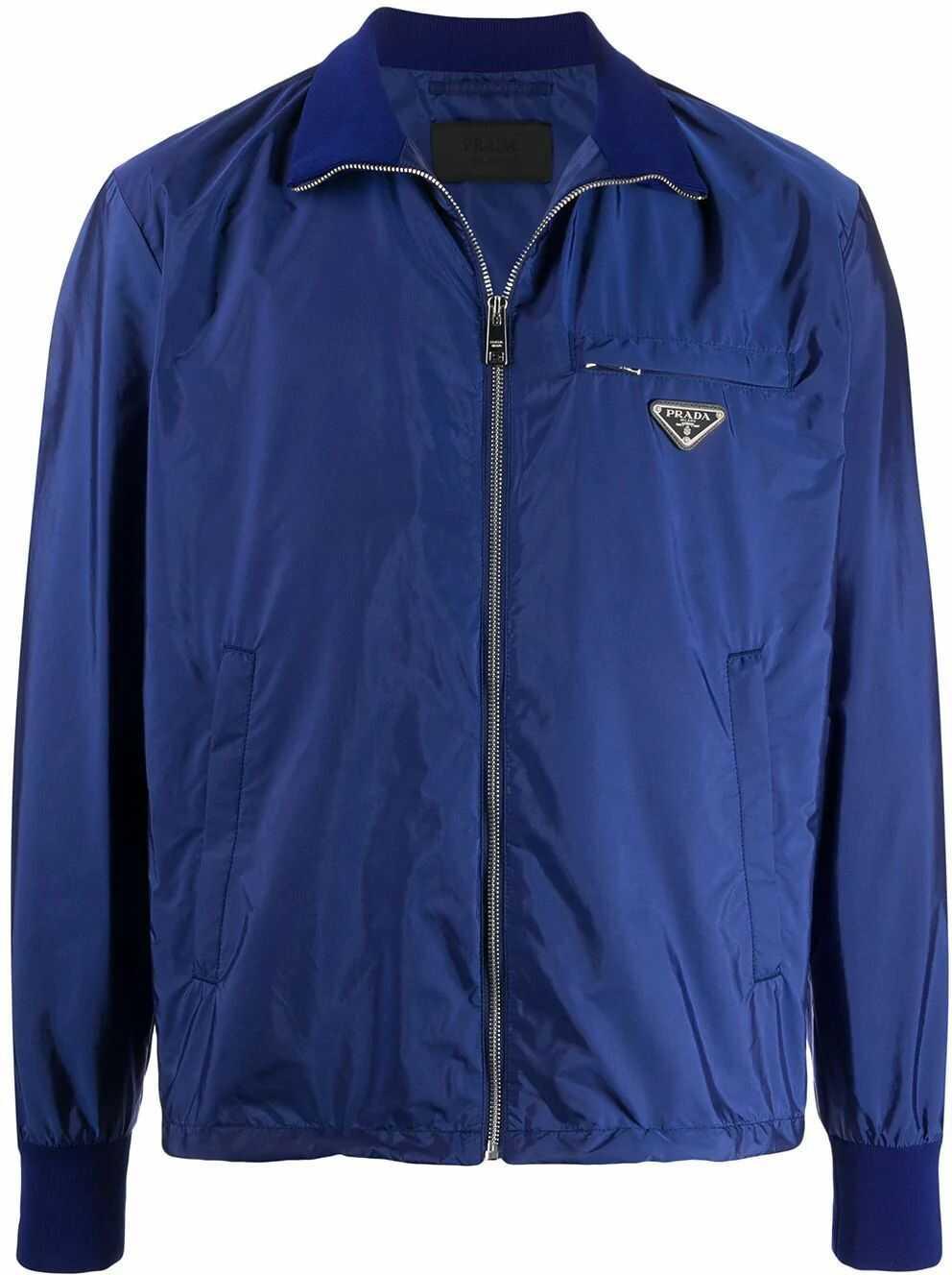 Prada Polyamide Outerwear Jacket BLUE
