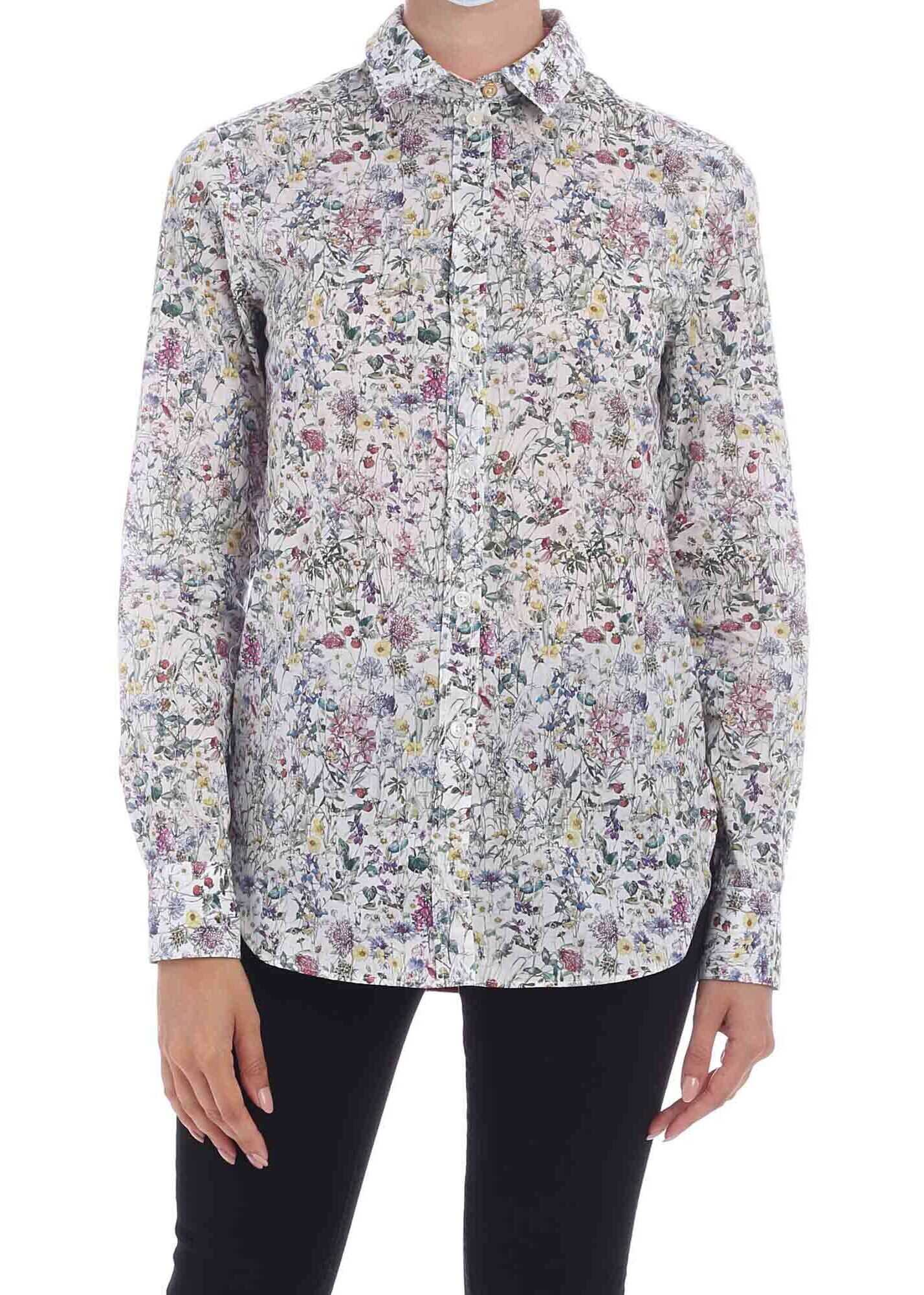 Paul Smith Liberty Floral Print Multicolor Shirt White