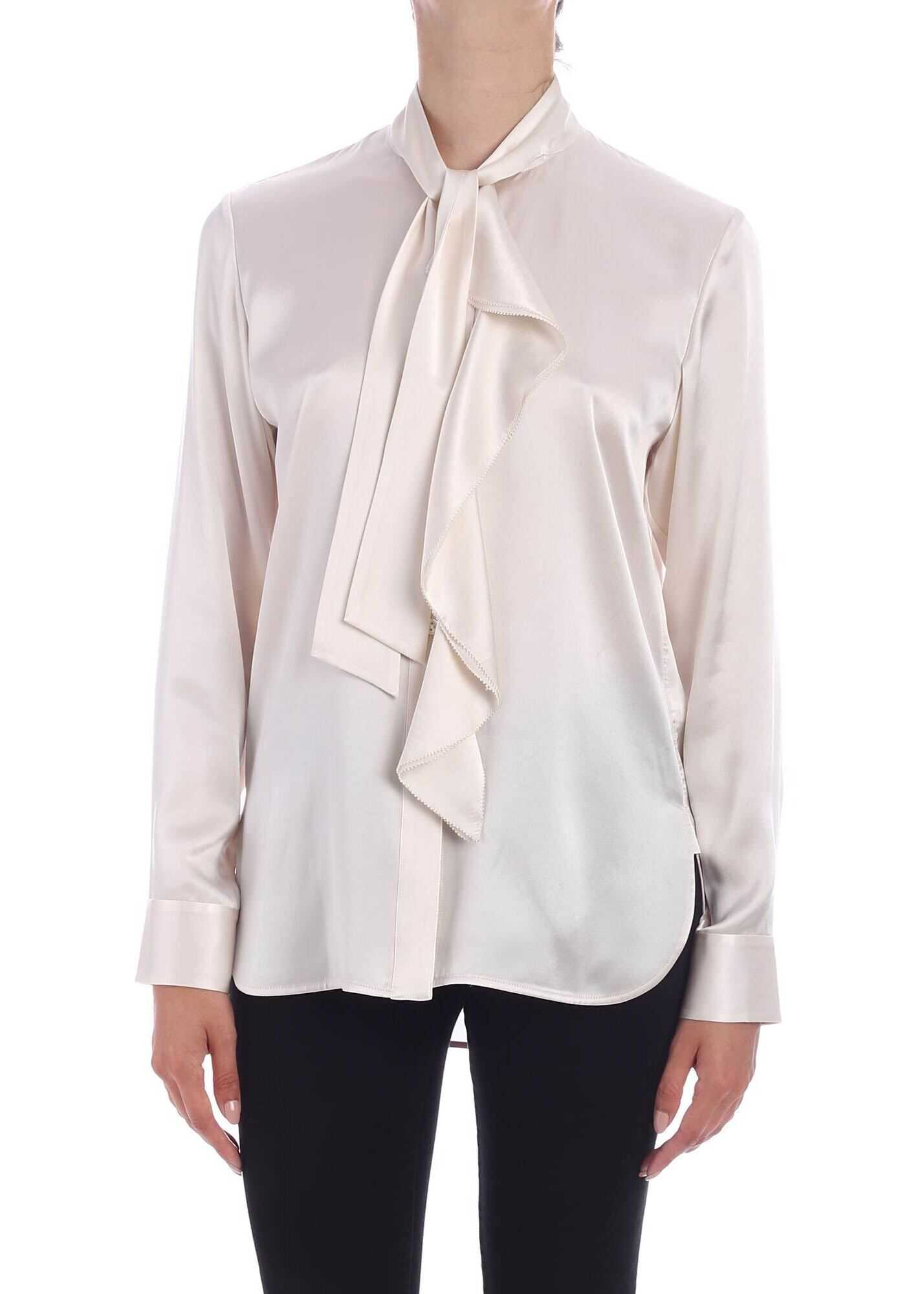 Paul Smith Silk Shirt In Nude Color Pink