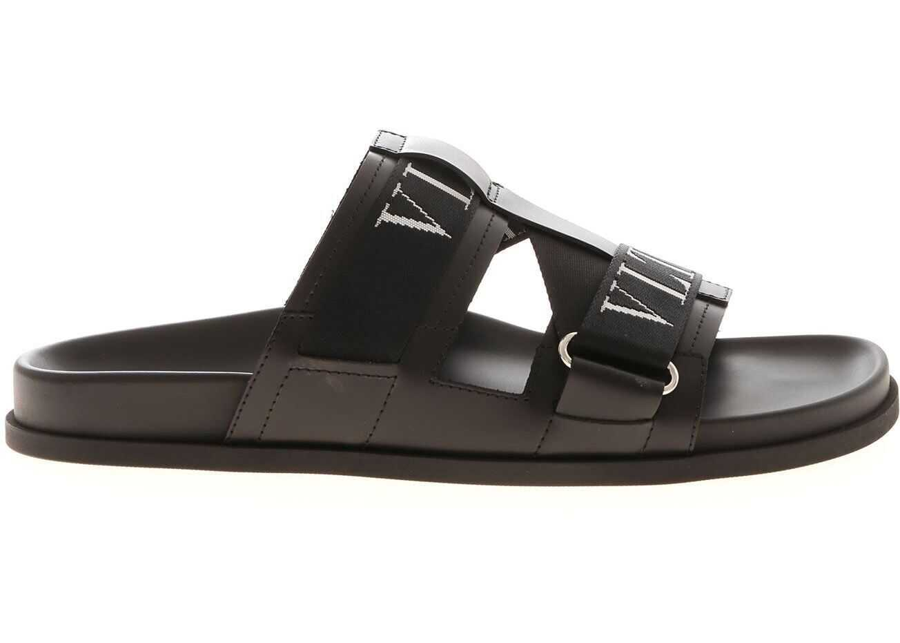 Vltn Sandals In Black