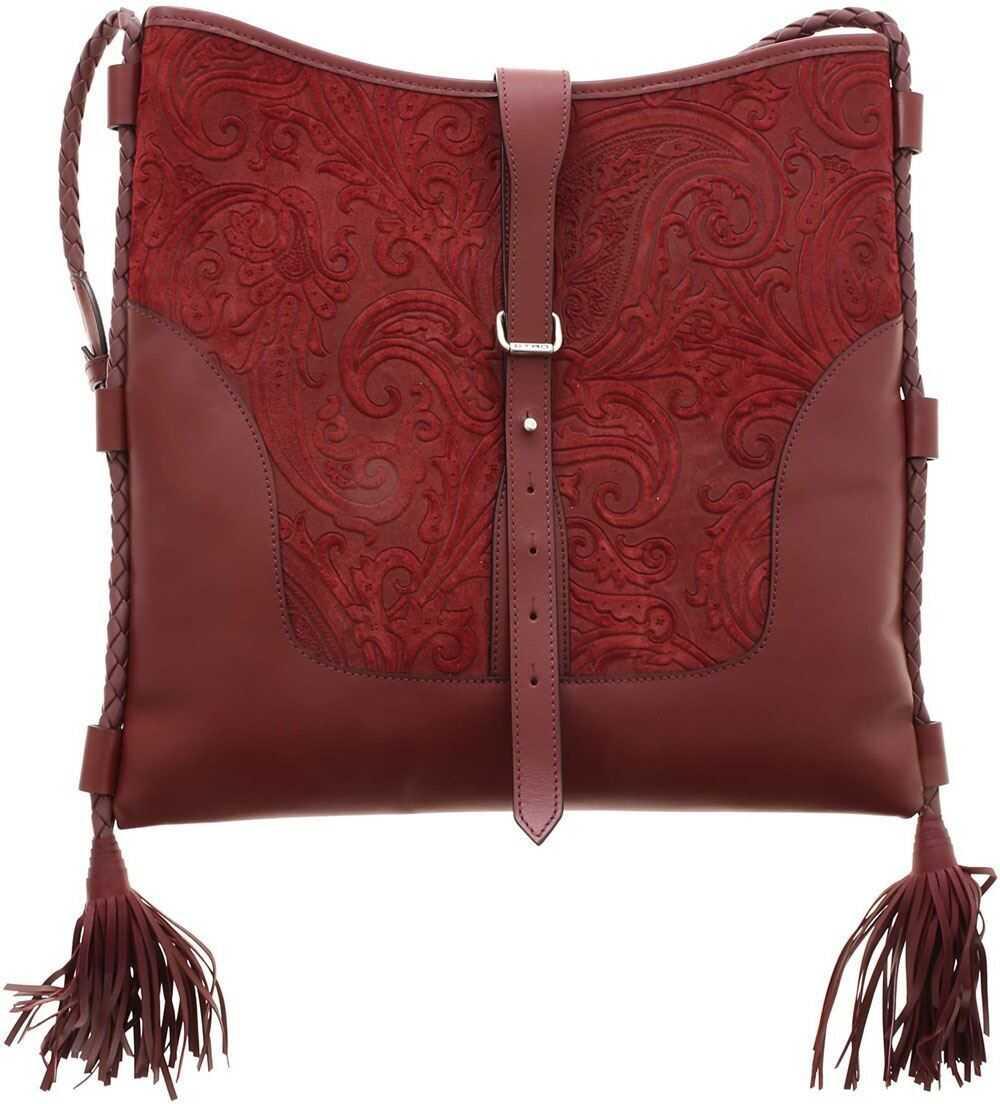 ETRO Eivissa Shoulder Bag In Burgundy Red