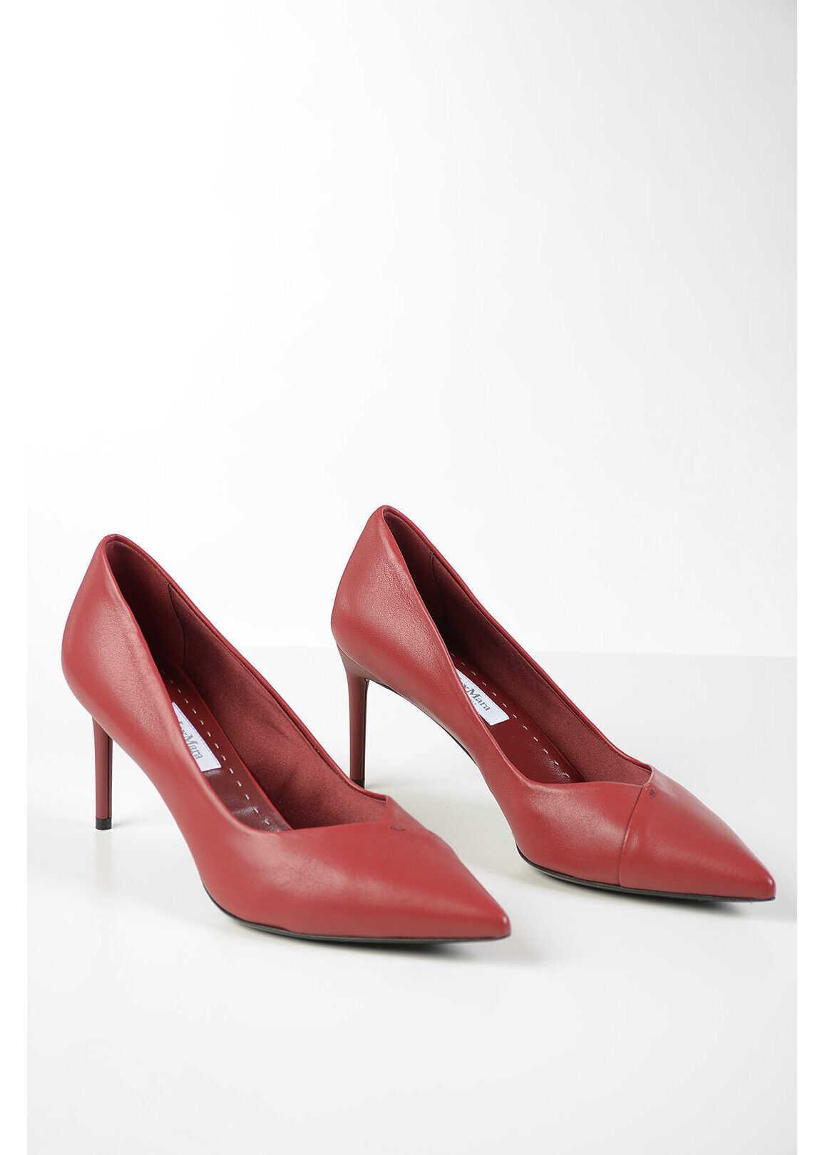 Max Mara Leather SHIRCNY Pumps 8 cm RED