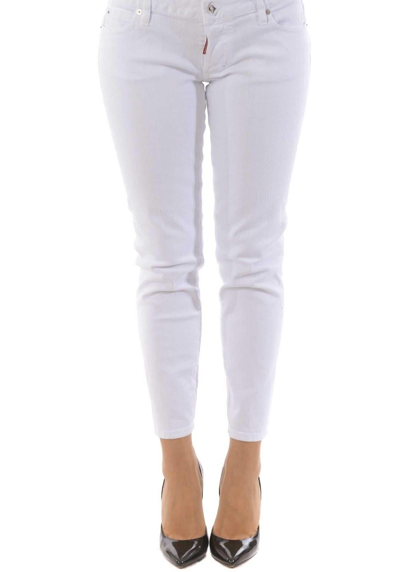 DSQUARED2 Jennifer Cropped Jeans Stretch In White White