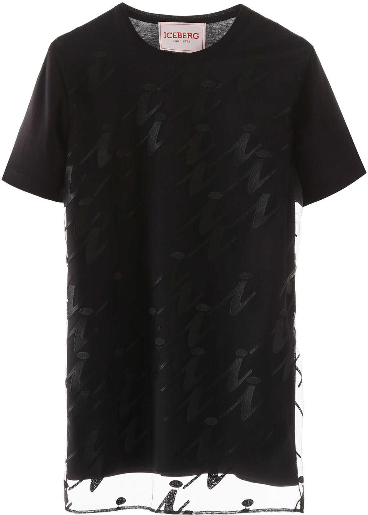 Iceberg Embroidered T-Shirt NERO