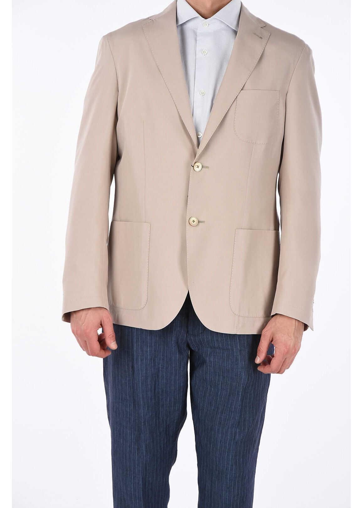 CORNELIANI ID silk IDENTITY blazer BEIGE imagine