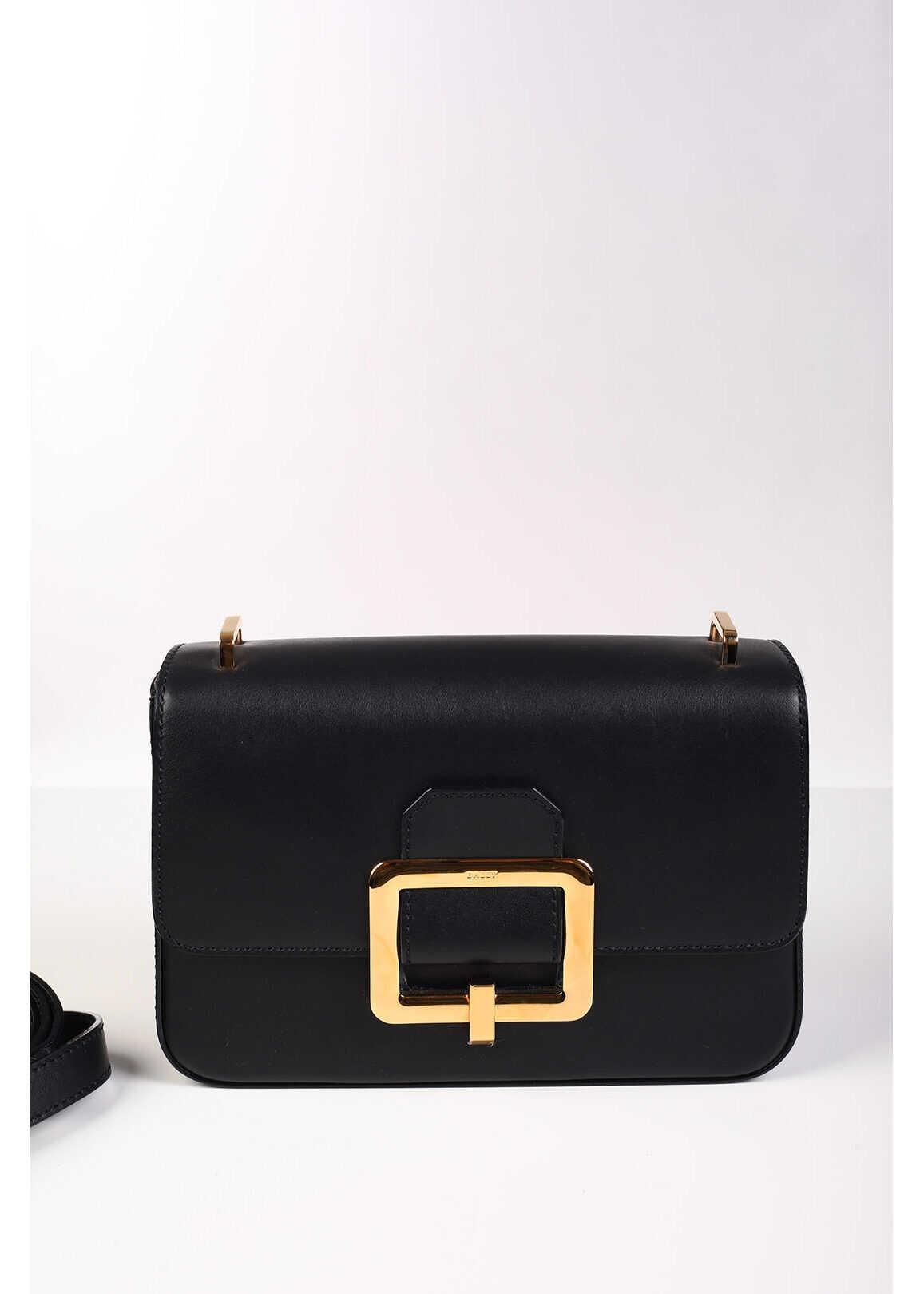 Bally Leather JANELLE Shoulder Bag BLACK