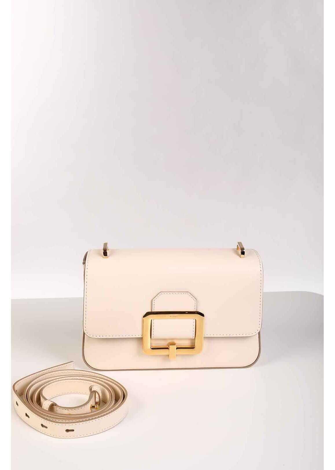 Bally Leather JANELLE Shoulder Bag BEIGE