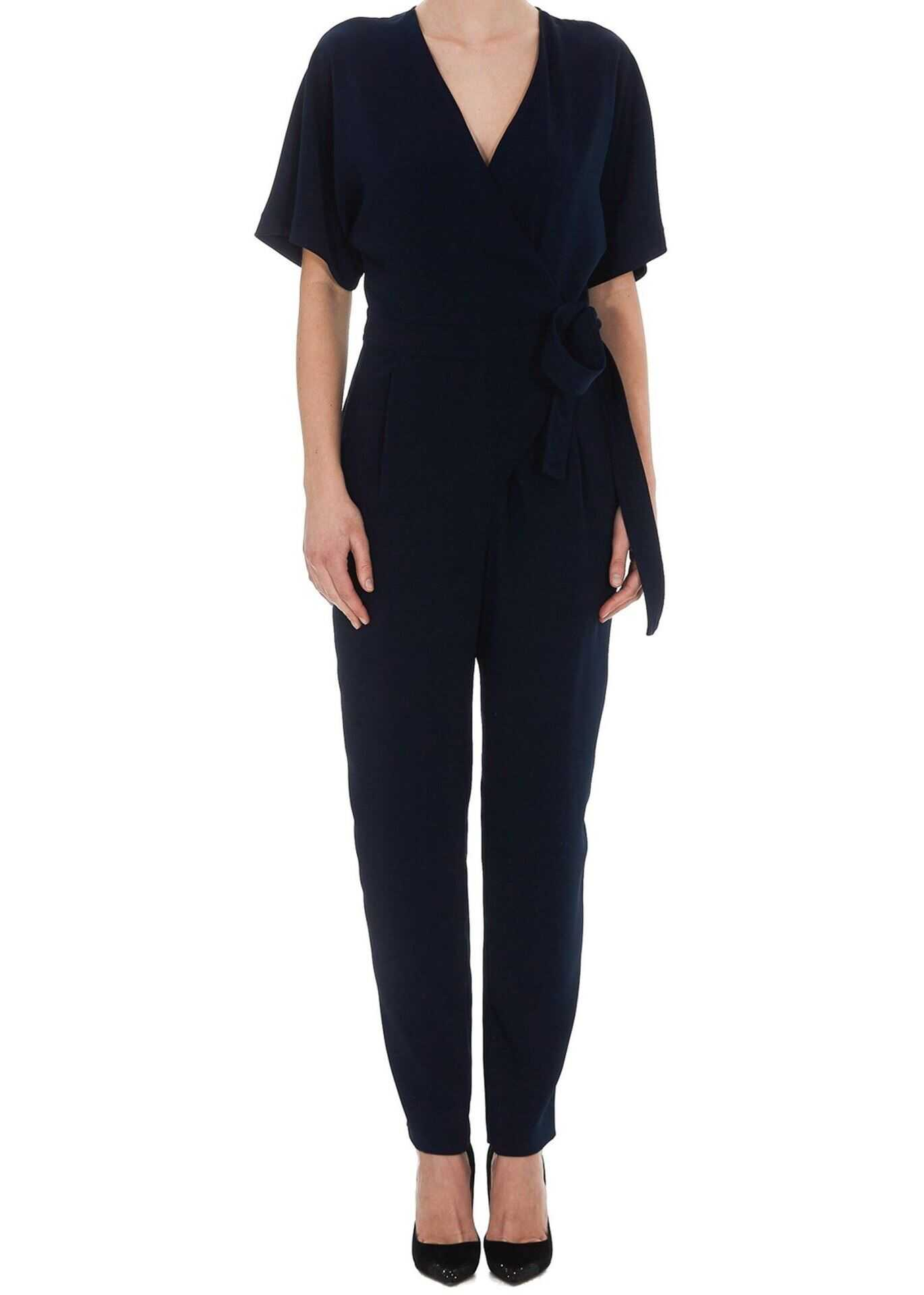 P.A.R.O.S.H. Cady Jumpsuit In Dark Blue Blue
