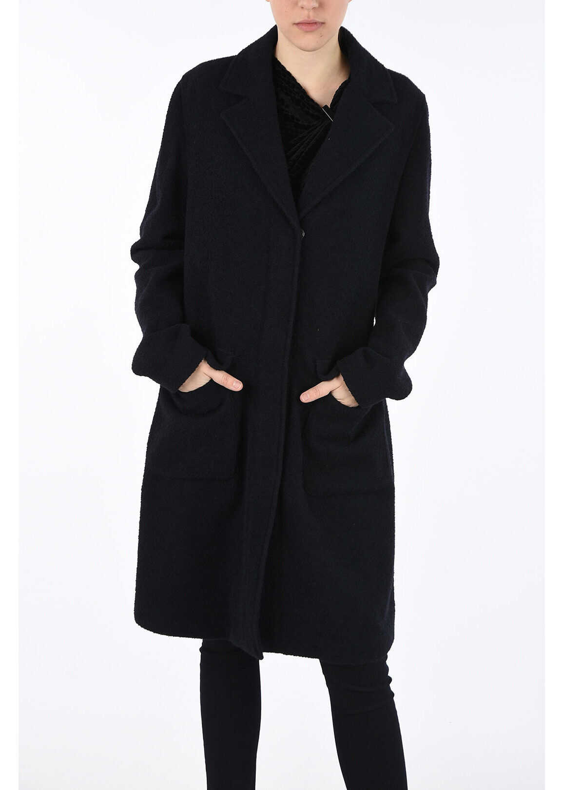 Armani ARMANI JEANS Wool Coat BLUE