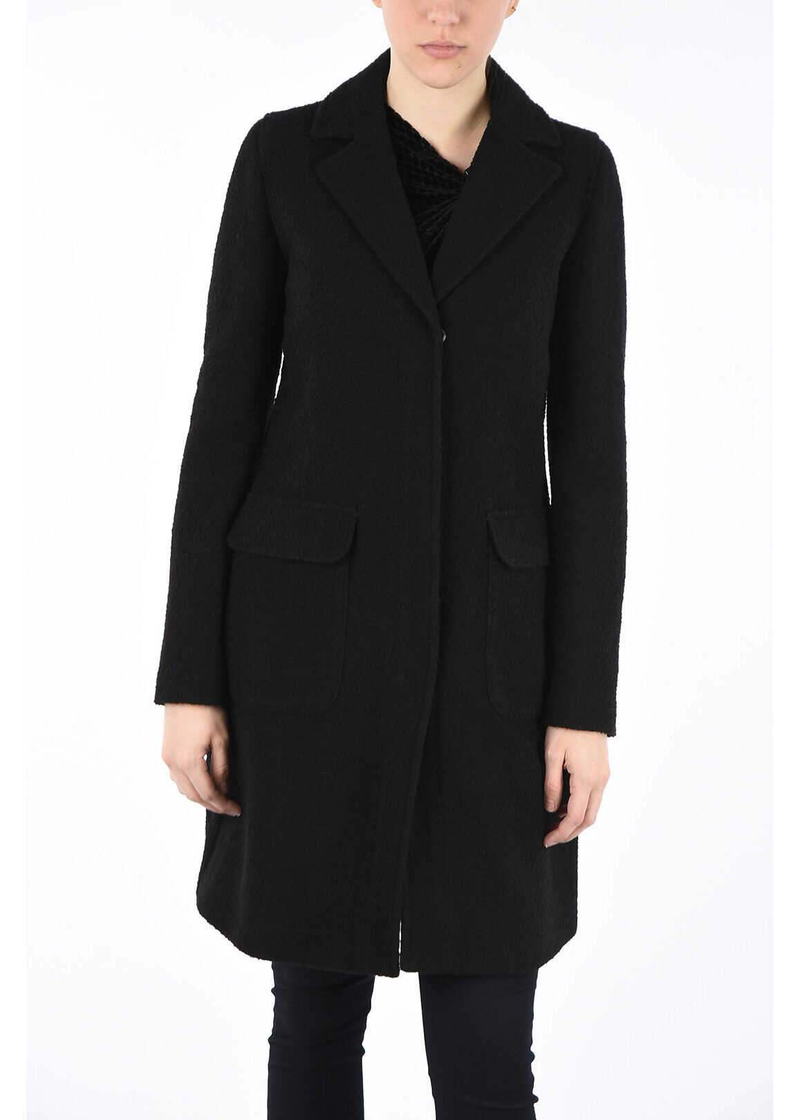 Armani ARMANI JEANS Wool Coat BLACK