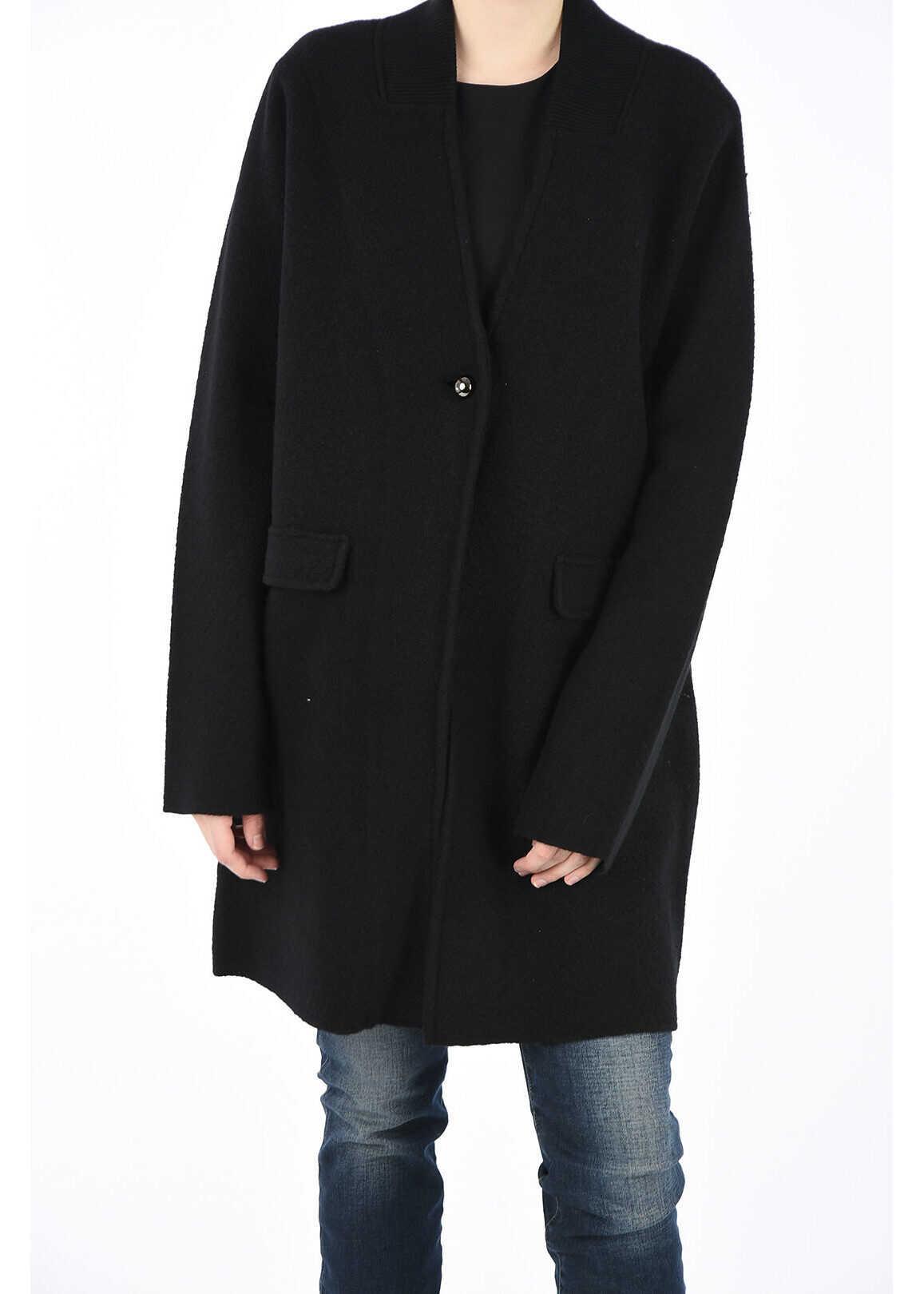 Armani ARMANI JEANS Wool Coat BLACK