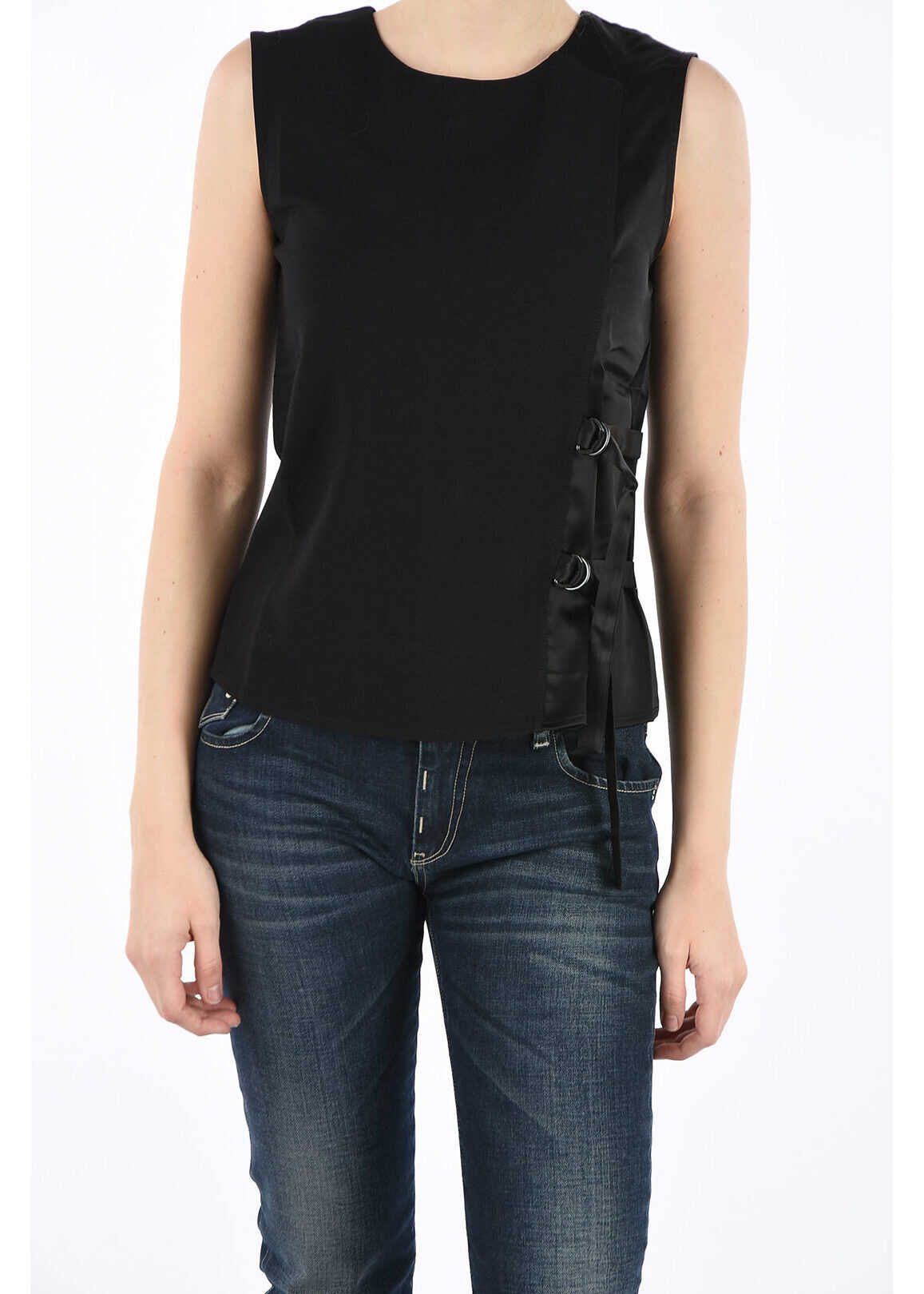 Armani ARMANI JEANS Crew-Neck Top BLACK