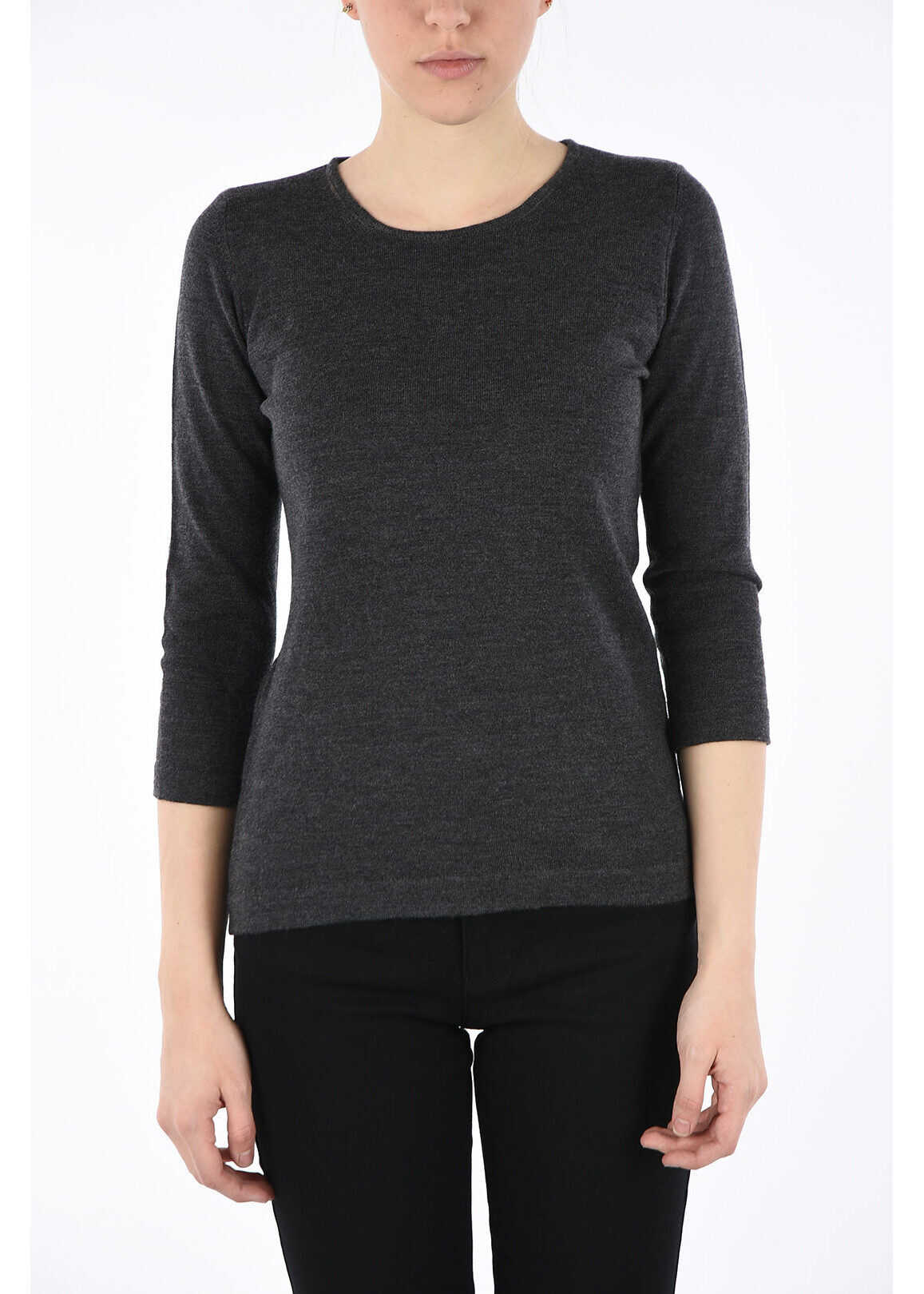 Armani COLLEZIONI Virgin Wool Sweater GRAY