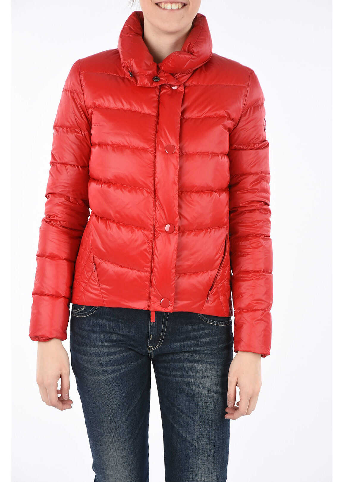 Armani ARMANI JEANS Long Sleeve Down Padded Jacket RED