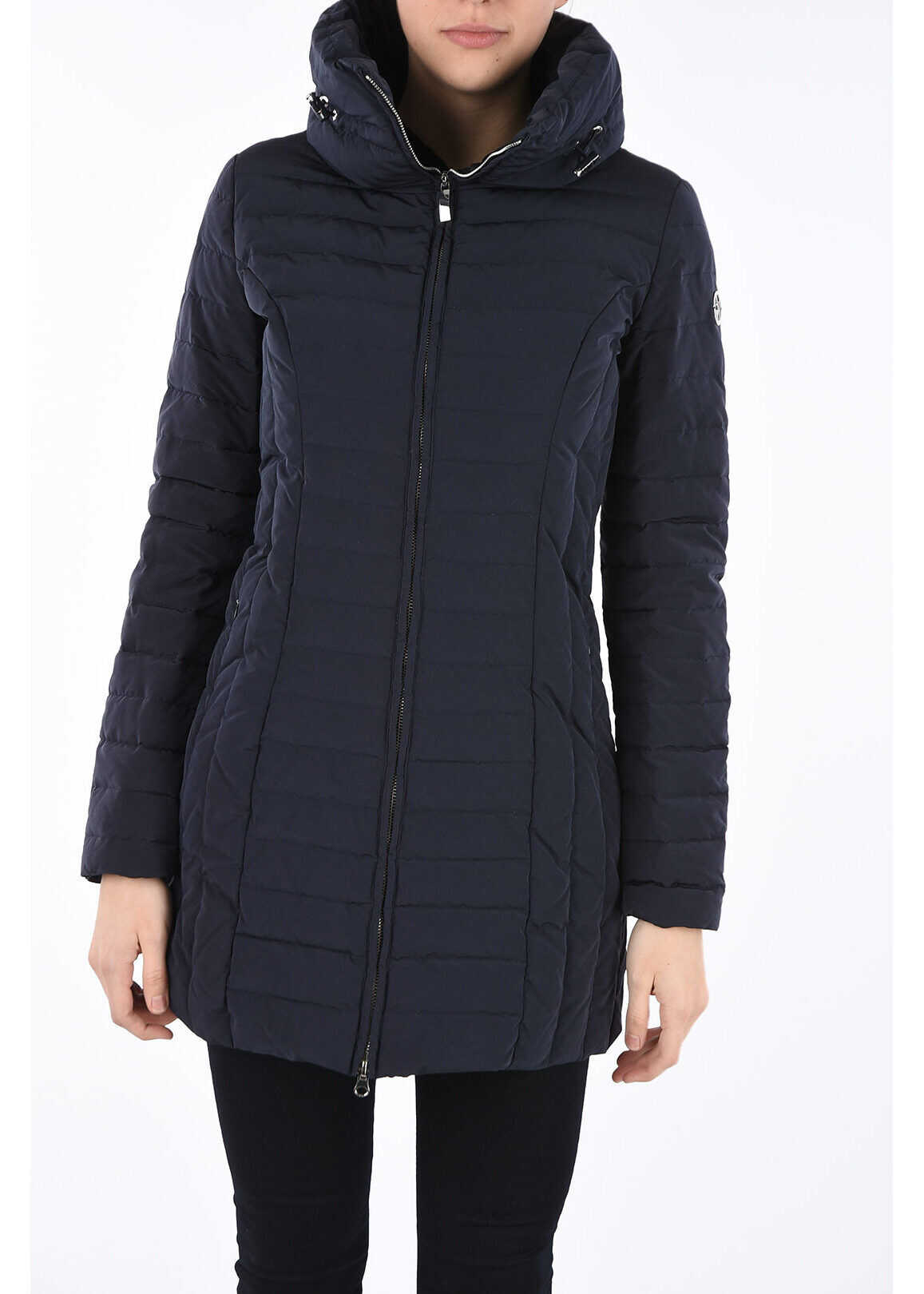 Armani ARMANI JEANS Long Down Padded Jacket BLUE