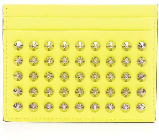 Christian Louboutin Leather Card Holder YELLOW