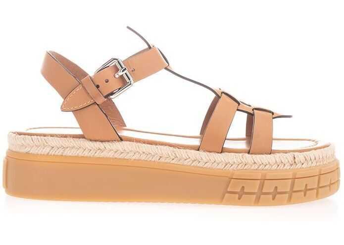 Prada Leather Sandals BEIGE