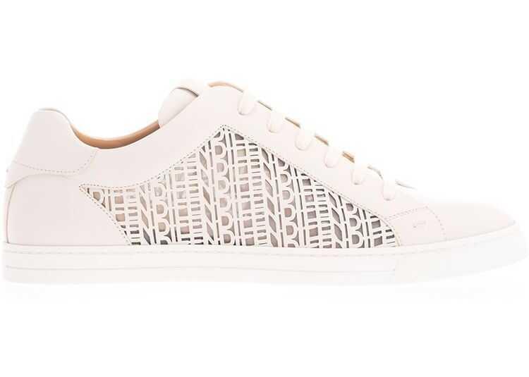 Fendi Leather Sneakers WHITE