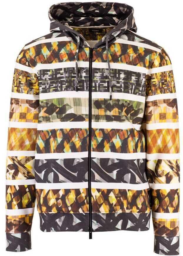 Fendi Cotton Outerwear Jacket MULTICOLOR