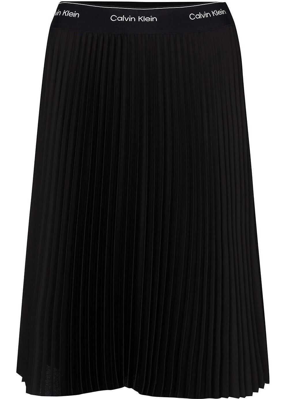 Calvin Klein Polyester Skirt BLACK