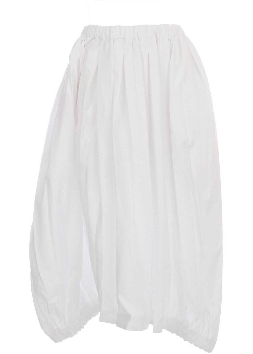 Comme des Garçons Cotton Skirt WHITE