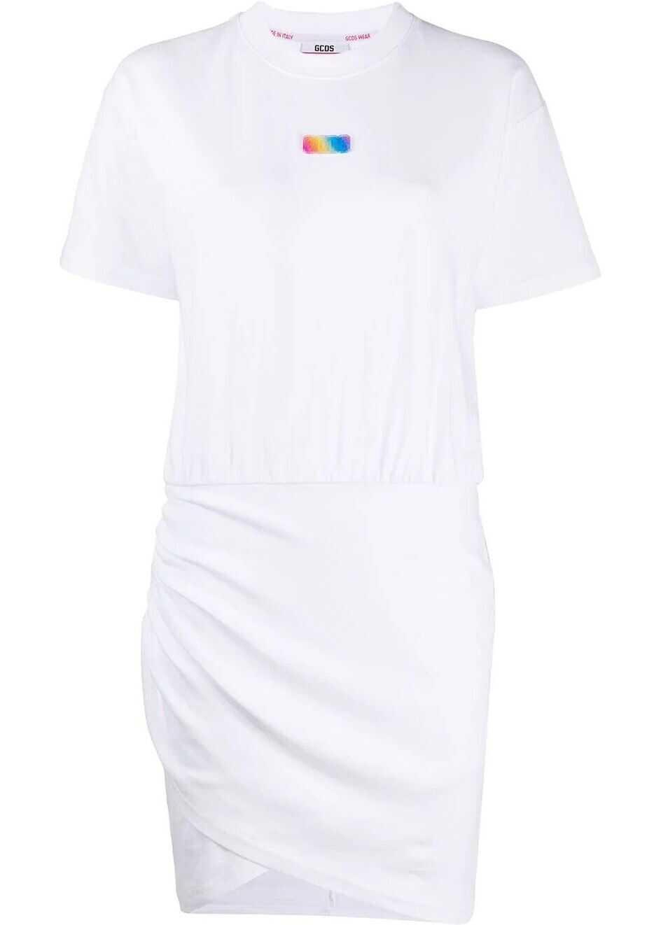 GCDS Cotton Dress WHITE