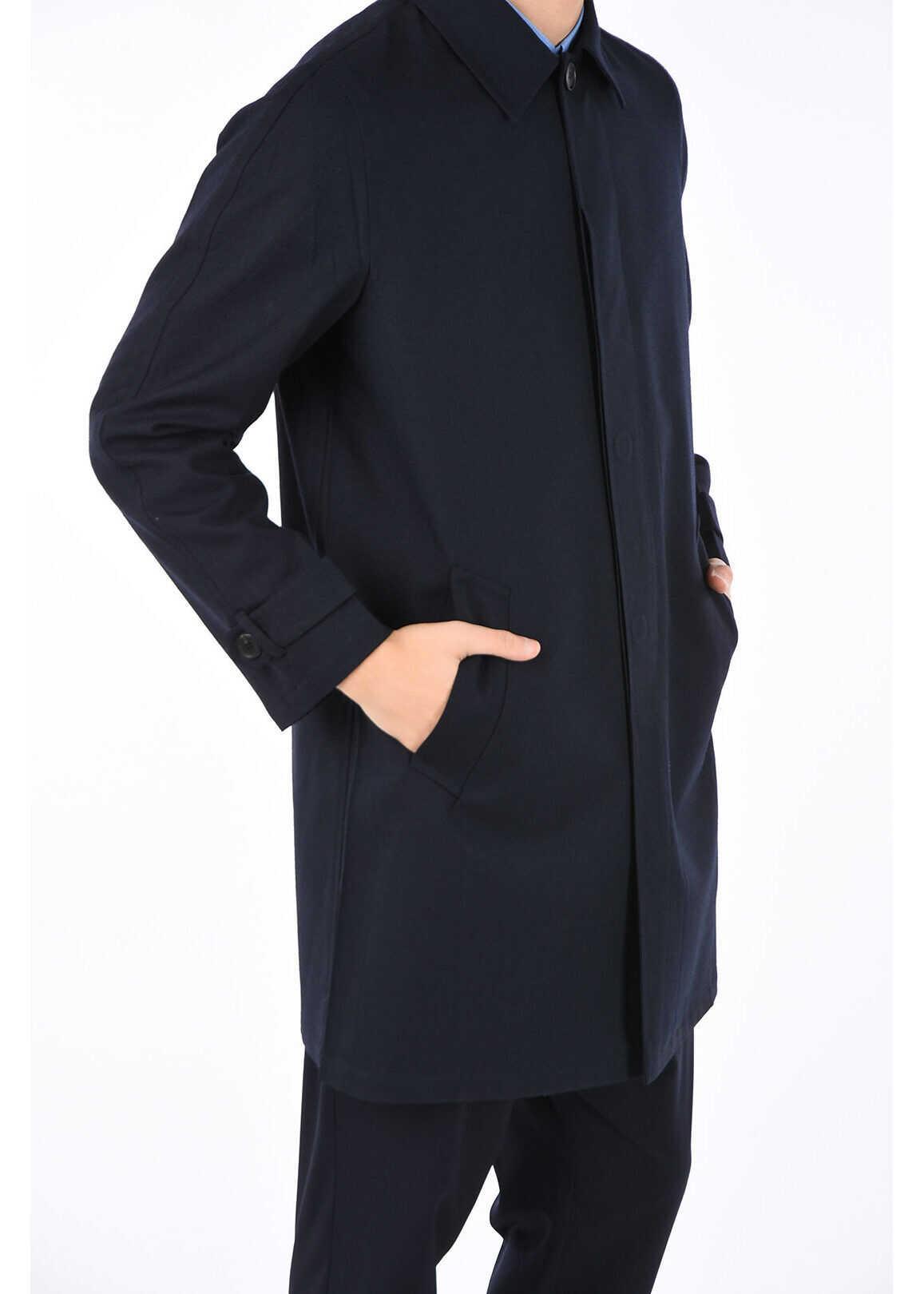 Prada virgin wool coat BLUE