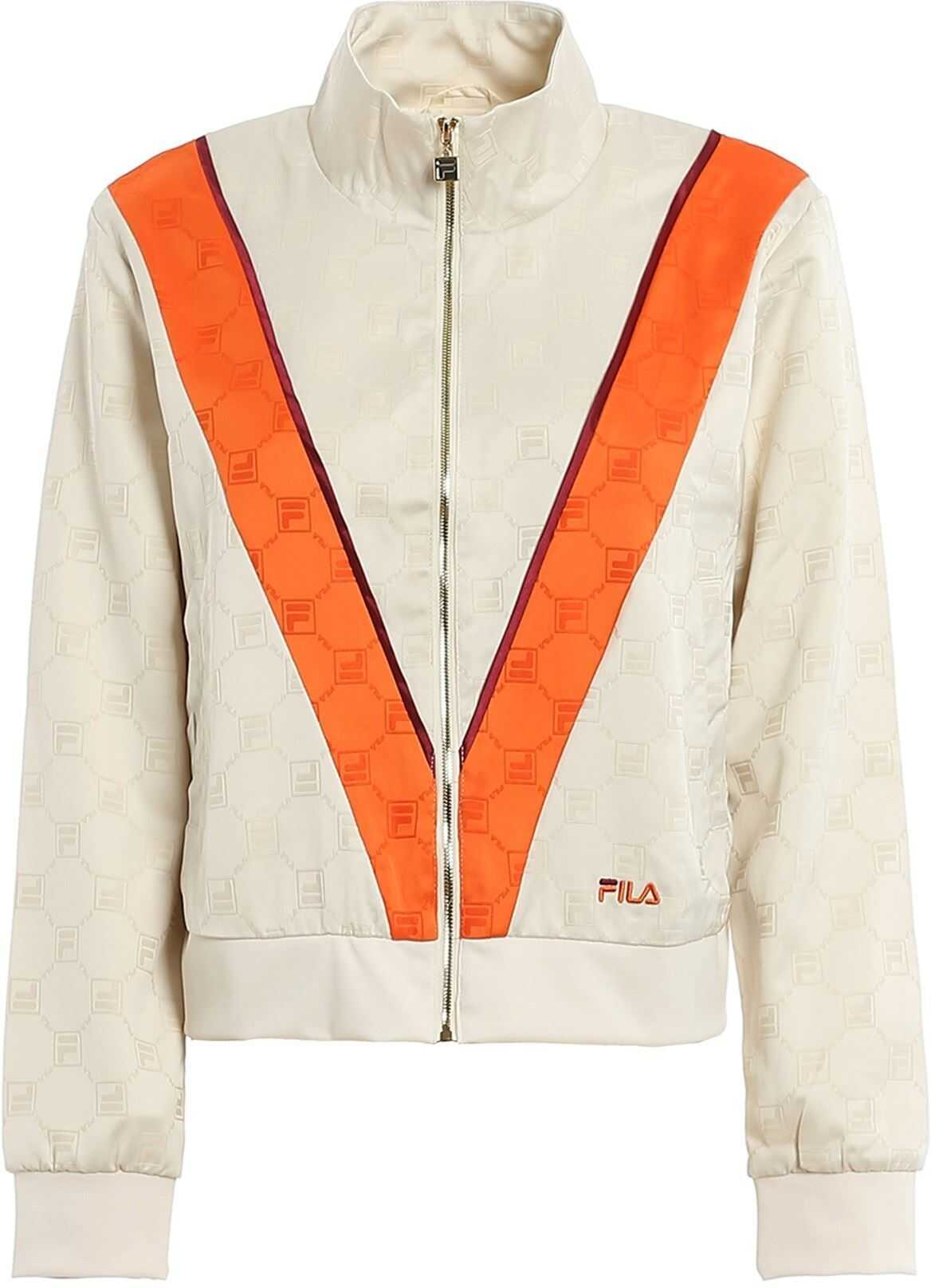 Fila Halle Track Jacket In Cream Color Cream