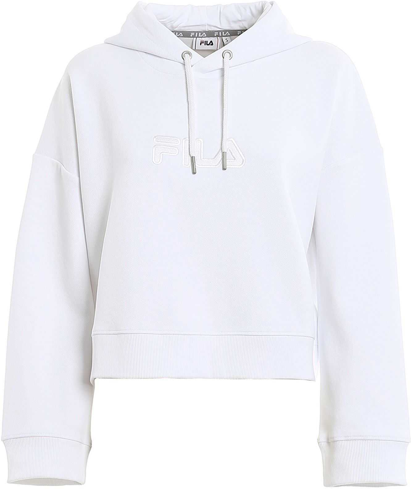 Fila Maddy Hooded Sweatshirt In White White