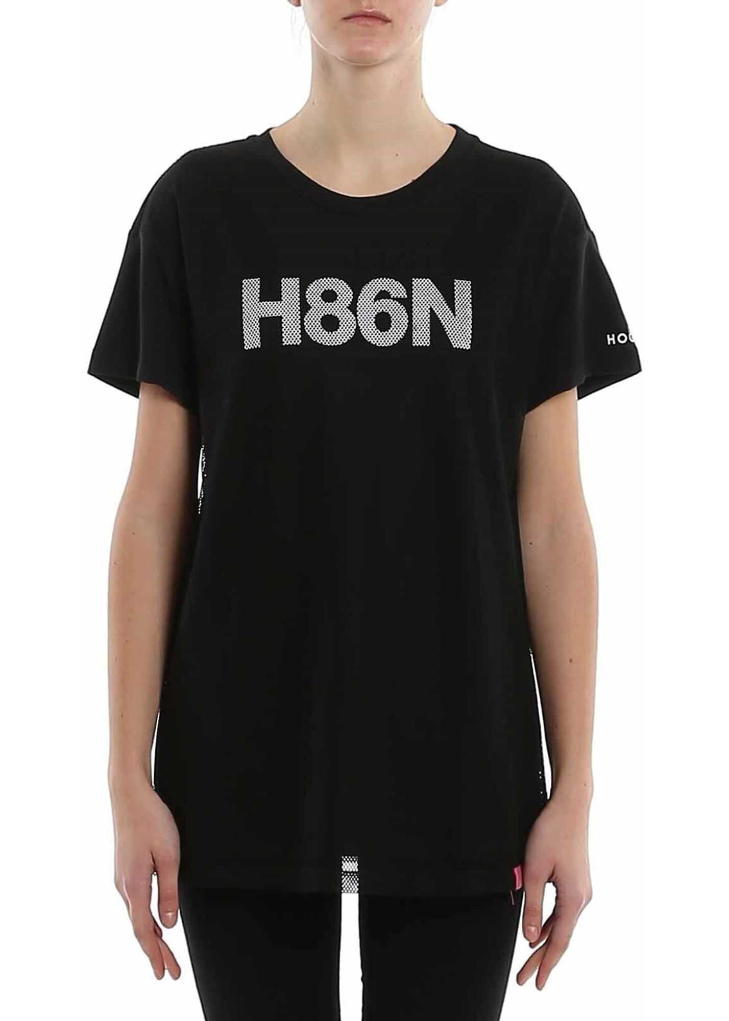 Hogan H86N T-Shirt In Black Black