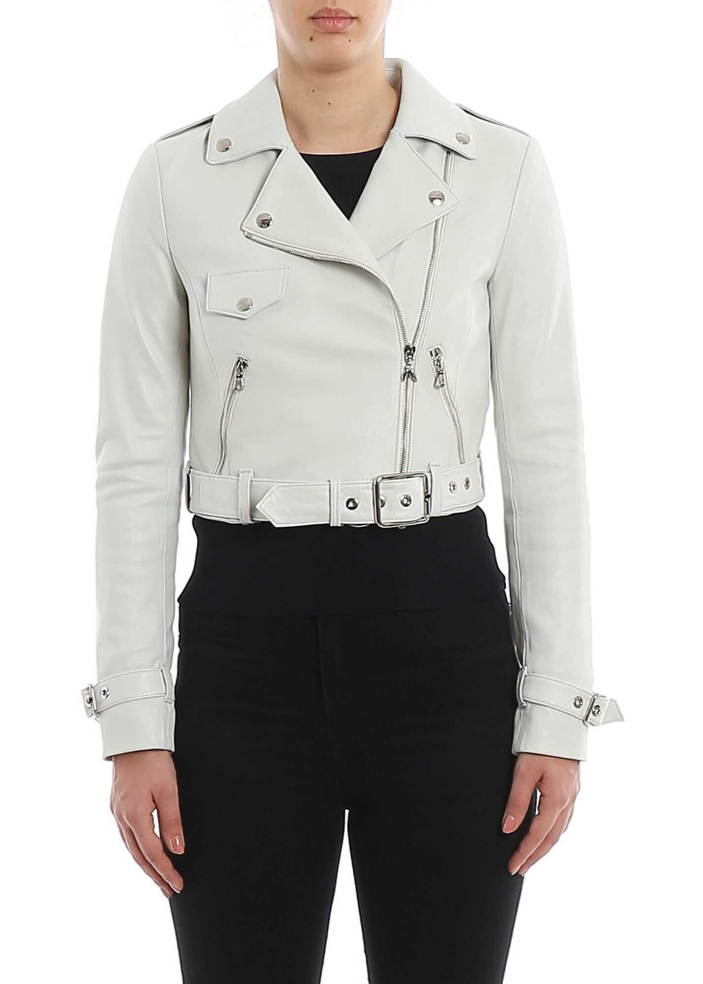 Patrizia Pepe Cropped Jacket In White White