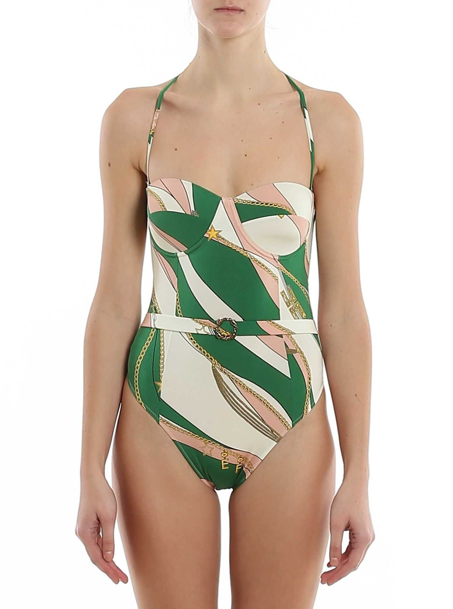 Elisabetta Franchi Foulard Printed One-Piece Swimsuit Multi