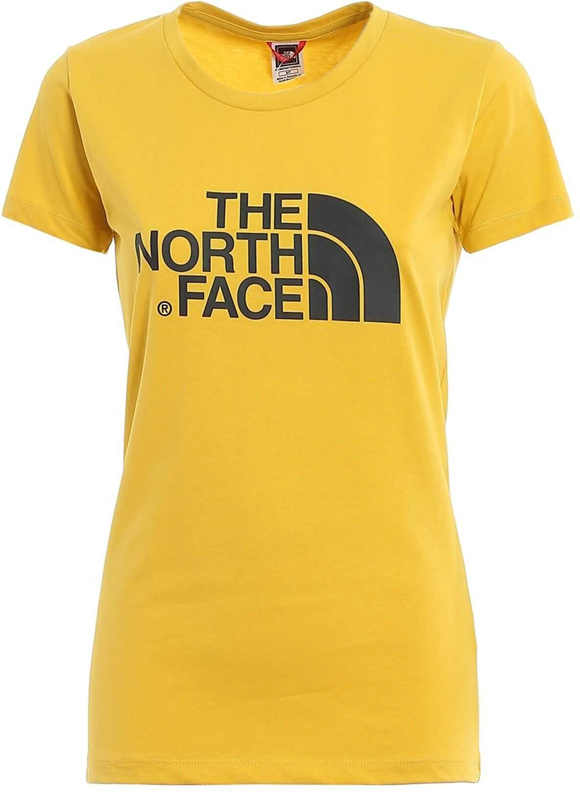 The North Face T-Shirt In Yellow With Logo Print Yellow