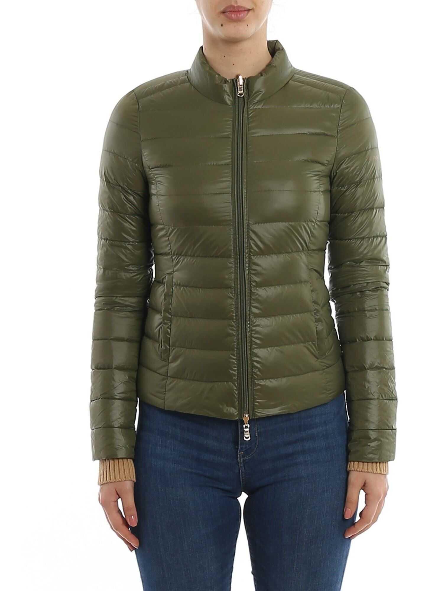 Patrizia Pepe Reversible Puffer Jacket Green Green