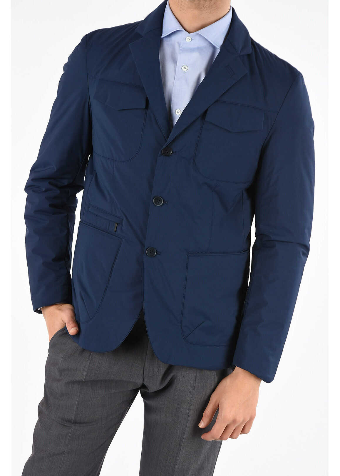 CORNELIANI CC COLLECTION FIELD padded blazer BLUE imagine