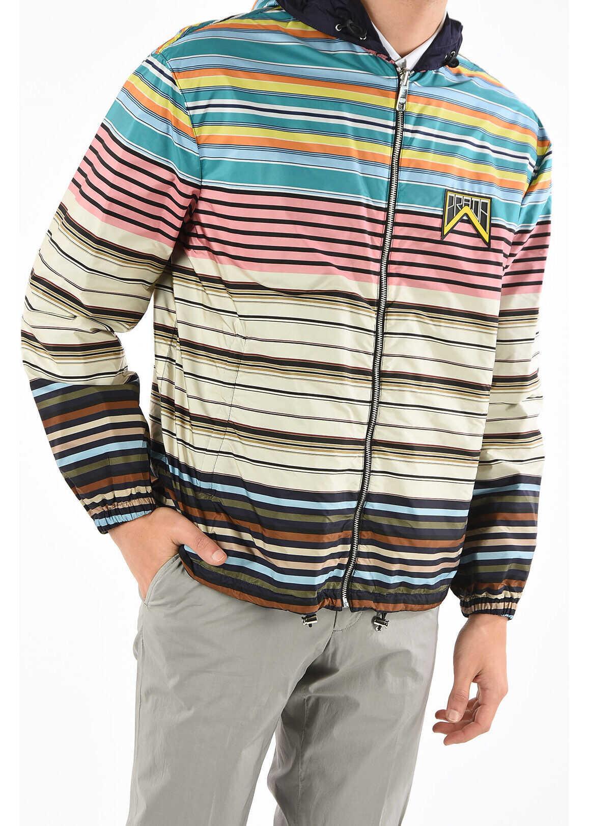 Prada hooded reversible outerwear MULTICOLOR