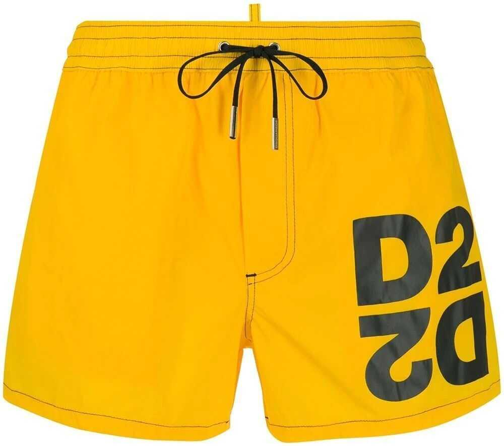 DSQUARED2 Polyamide Trunks YELLOW