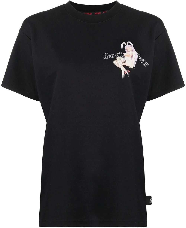 GCDS Cotton T-Shirt BLACK