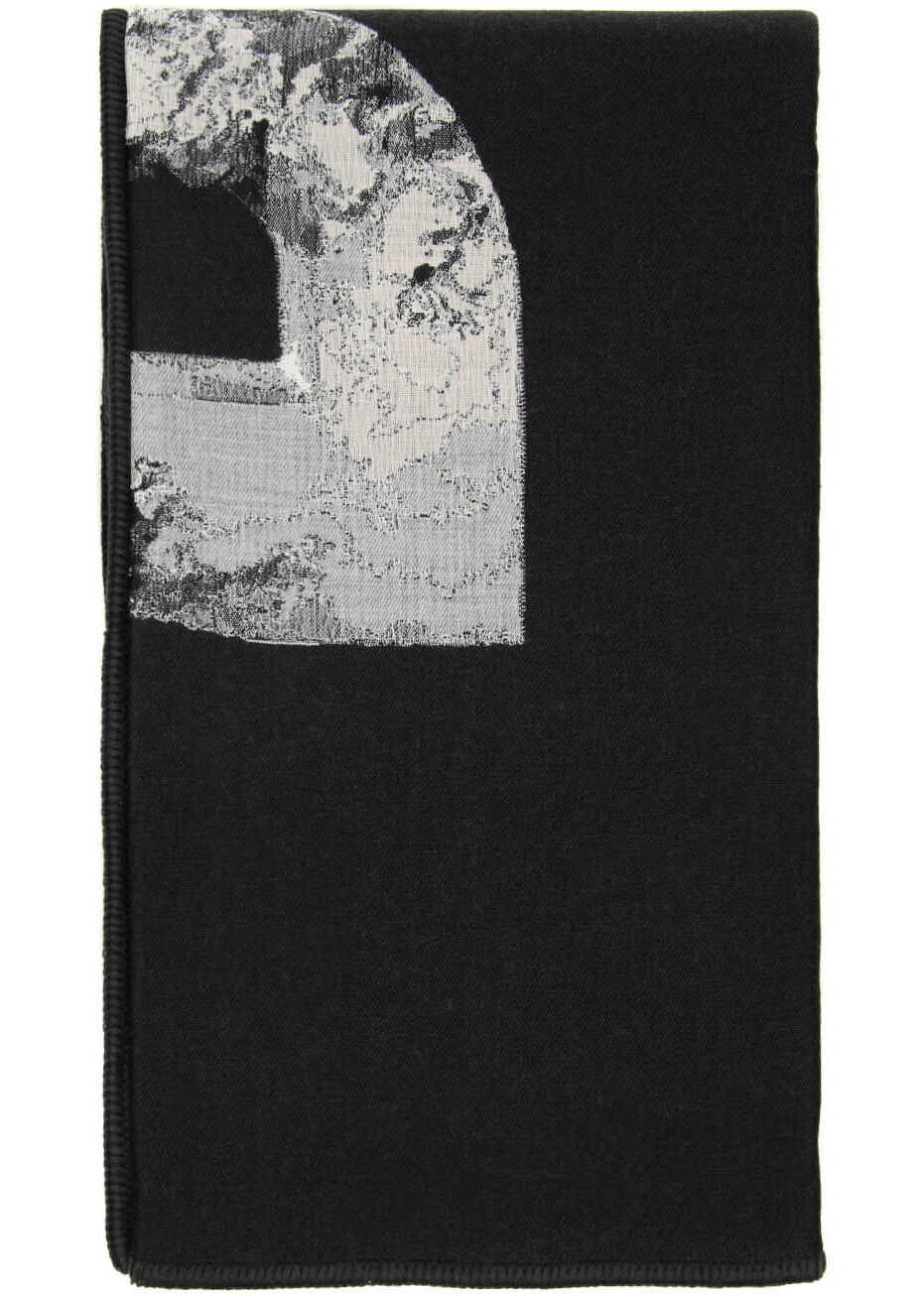 Dior And Daniel Arsham Logo Plaid Maxi Scarf BLACK