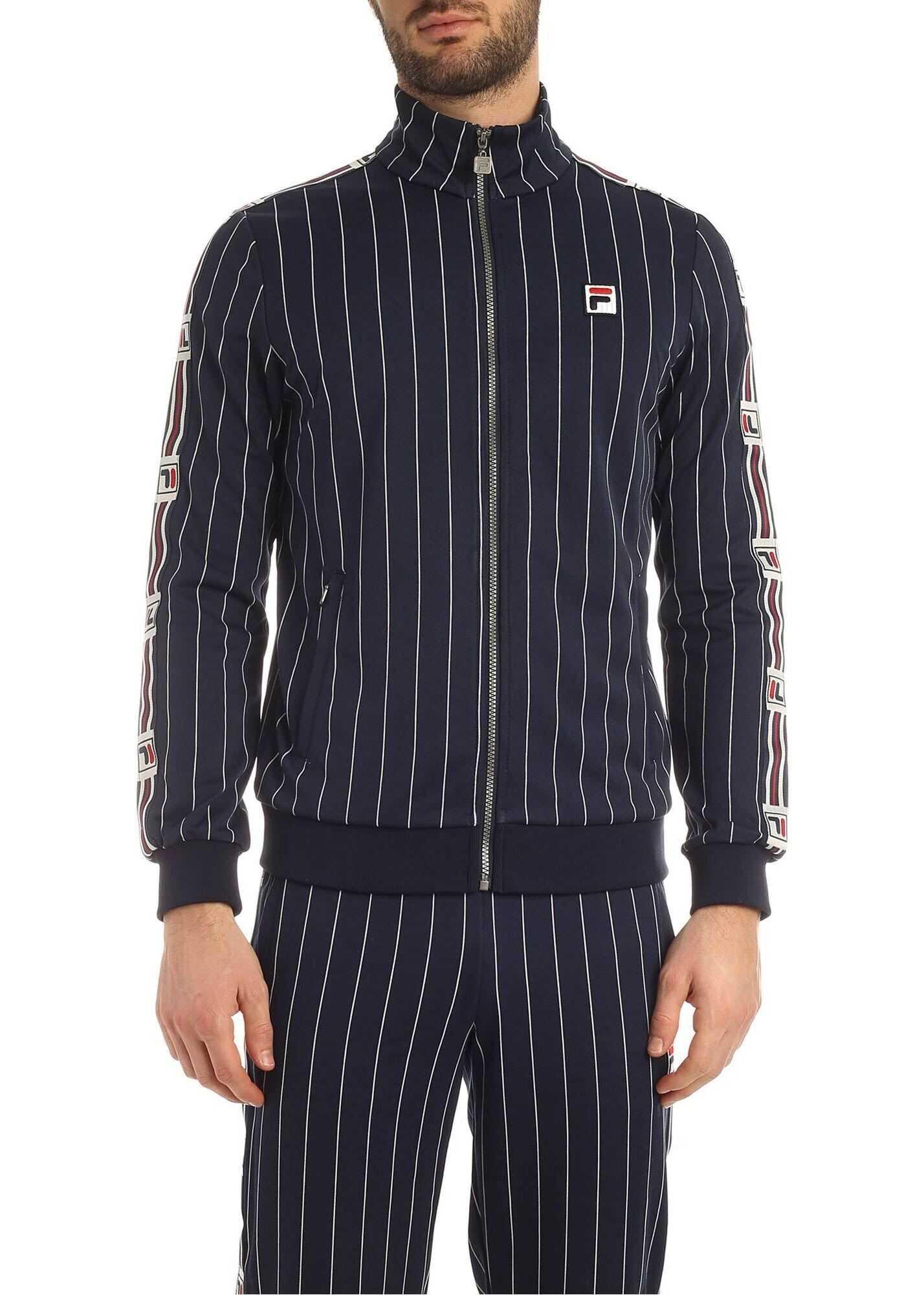 Fila Haben Striped Sweatshirt In Blue* Blue