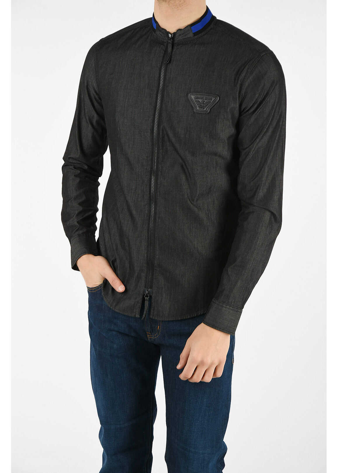 Armani ARMANI JEANS Cotton Jacket GRAY imagine