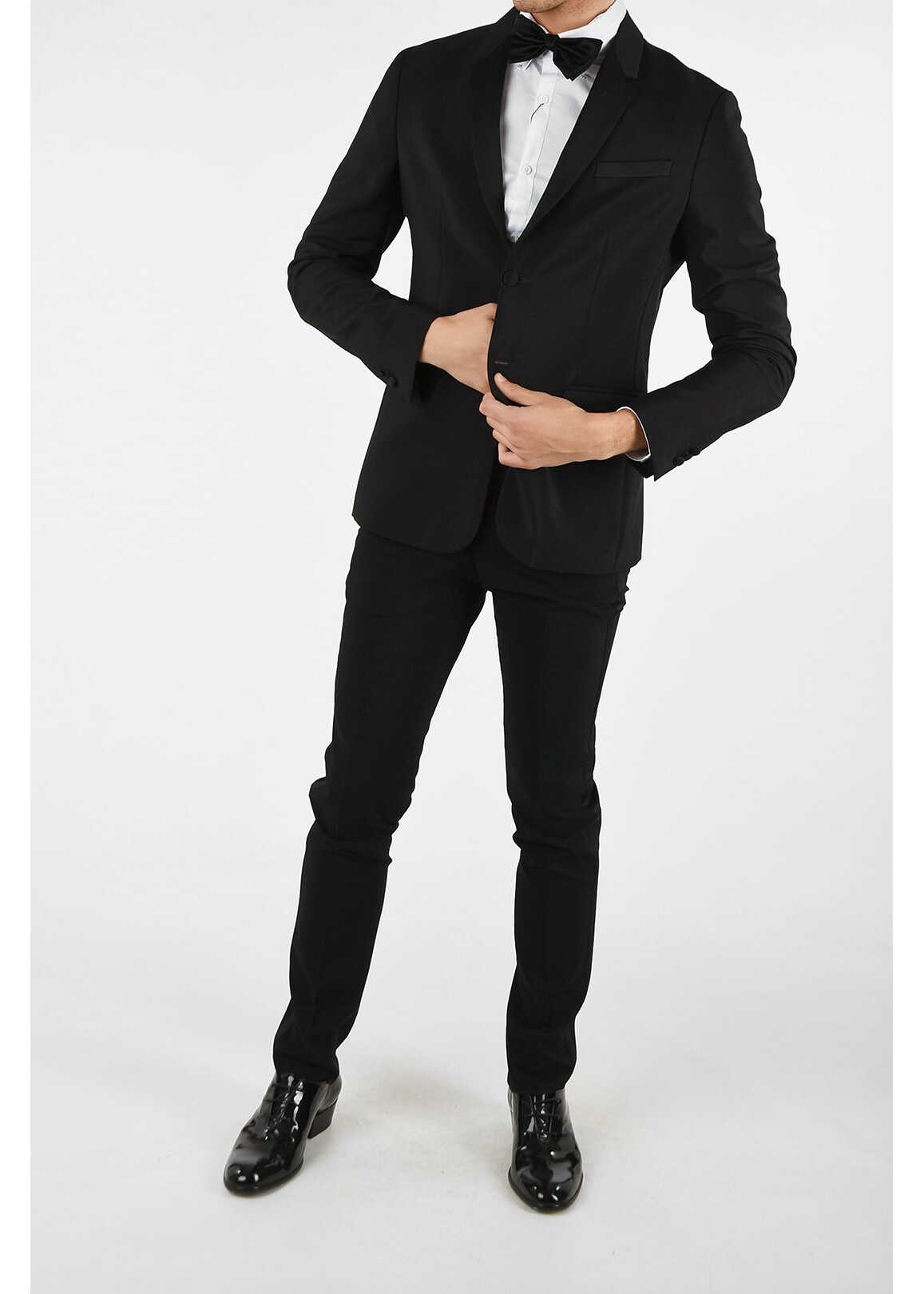 Armani EMPORIO Virgin Wool and Mohair Single Breasted Suit BLACK imagine