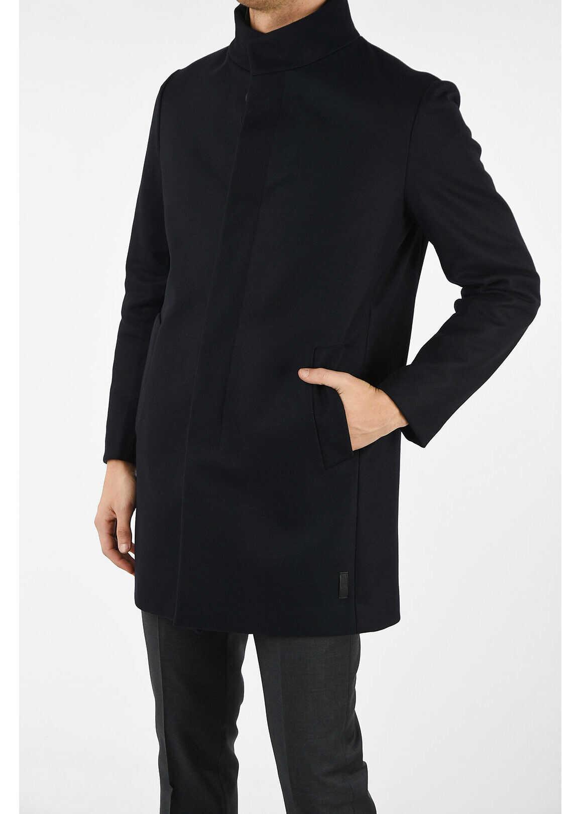 Armani COLLEZIONI Coat with detachable vest BLUE