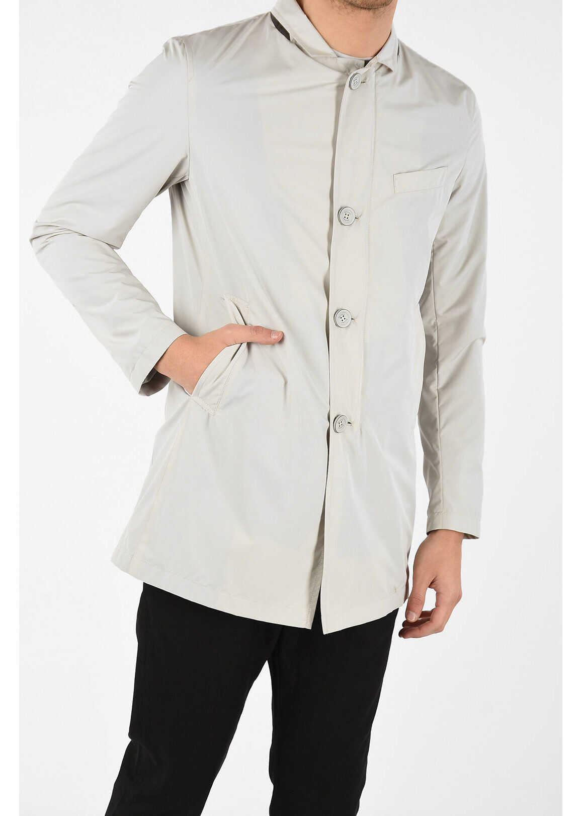 Herno Single Breasted Trench with Zip Closure BEIGE