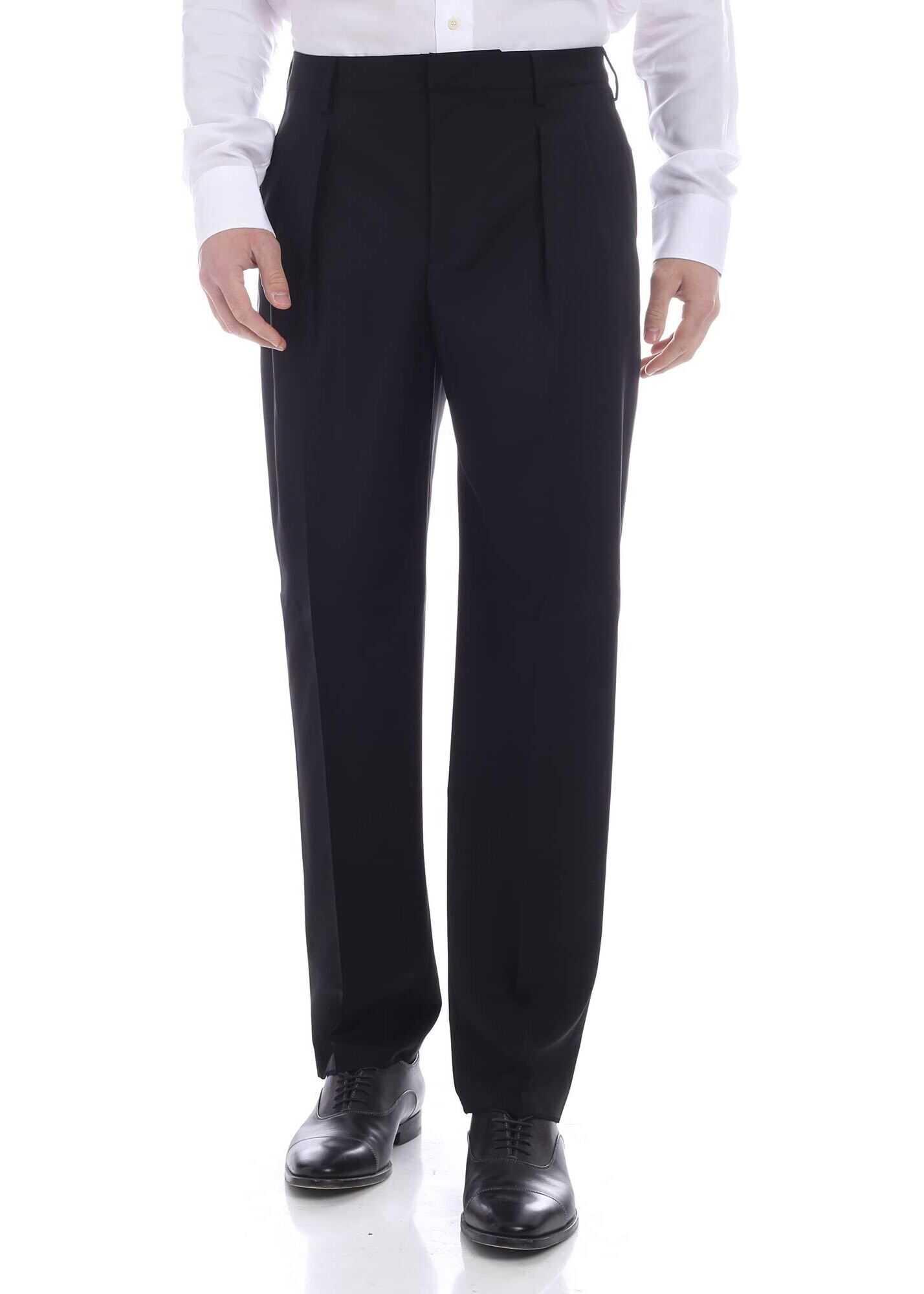 Valentino Garavani Cool Wool Pants In Black Black imagine
